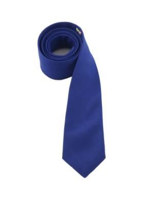 Галстук синего цвета однотонный из шерсти