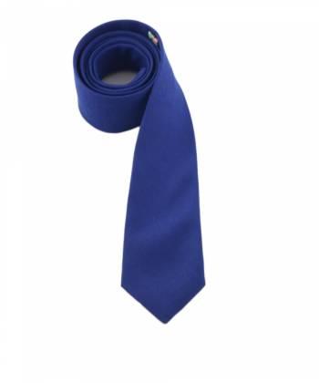 Галстук синего цвета однотонный из шерсти Baboon