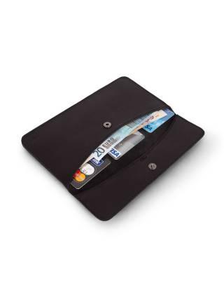 Плоский кошелек черного цвета из кожи