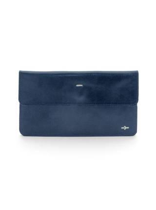 Плоский кошелек синего цвета из кожи