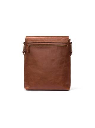 Сумка-планшет коричневая из кожи
