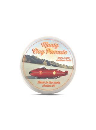 Мягкая глина для волос MANLY CLAY POMADE, 100 мл.