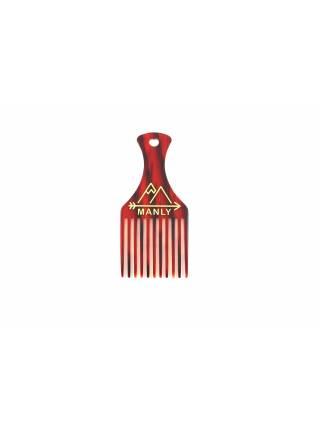 Расческа для волос MANLY PICK COMB (Afro Pick) RED