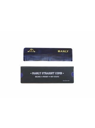 Расческа для волос MANLY STRAIGHT COMB Navy Blue