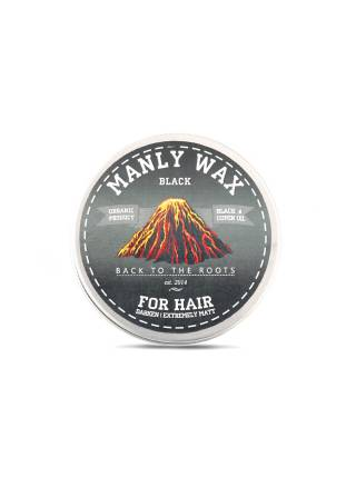 Воск для волос MANLY WAX black, 100 мл