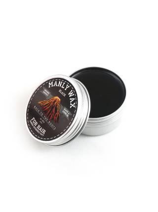 Воск для волос MANLY WAX black