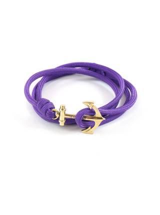 Браслет с якорем Purple