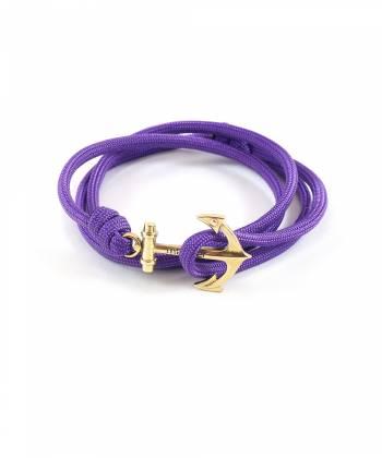 Браслет с якорем MARINER brand Purple