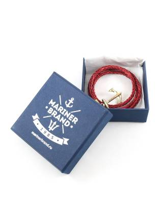 Кожаный браслет с якорем James Cook