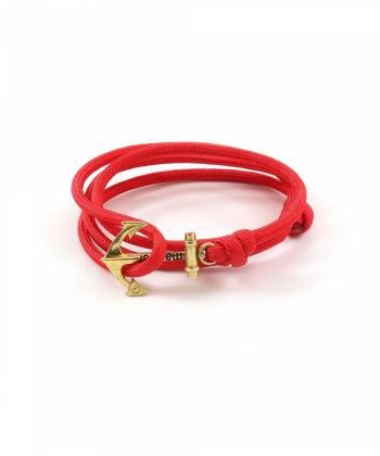 Браслет с якорем MARINER brand Red