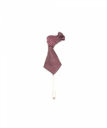 Бутоньерка для пиджака Галстук красный