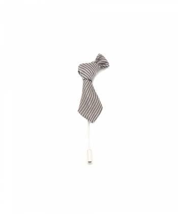Бутоньерка для пиджака Галстук серый