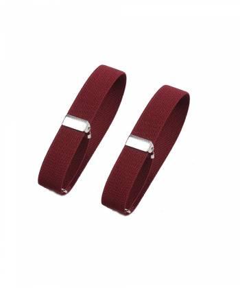Фиксаторы для рукавов рубашки бордового цвета (армбенды)