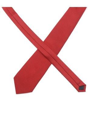 Галстук красный с мелким узором из микрофибры