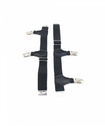 Подтяжки для носков черного цвета со стальными зажимами