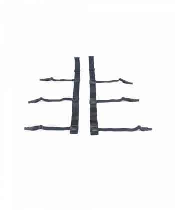 Подтяжки для рубашки черного цвета с пластиковыми зажимами