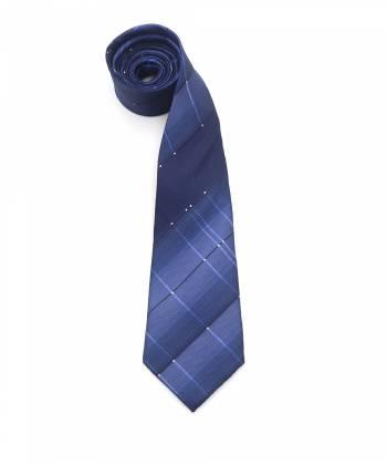 Синий галстук с градиентом в ромб