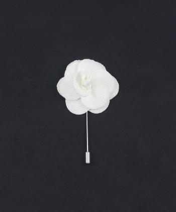 Бутоньерка для пиджака Цветок белый