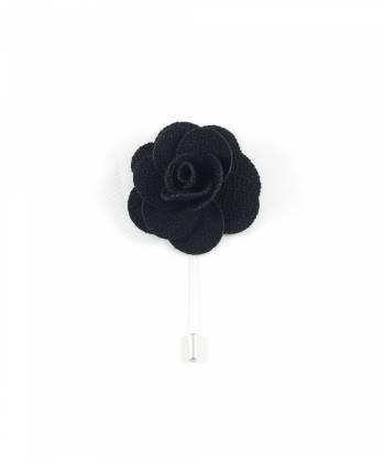 Бутоньерка для пиджака Цветок черный
