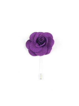 Бутоньерка для пиджака Цветок фиолетовый
