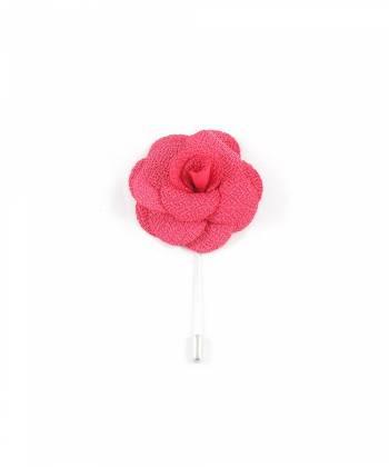 Бутоньерка для пиджака Цветок красный