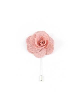Бутоньерка для пиджака Цветок розовый