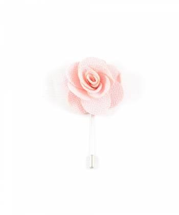 Бутоньерка для пиджака Цветок светло-розовый
