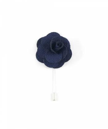 Бутоньерка для пиджака Цветок темно-синий