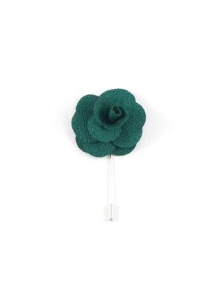 Бутоньерка для пиджака Цветок зеленый