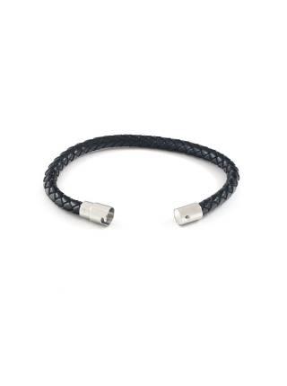 Мужской браслет из плетенной кожи с магнитной железной застежкой