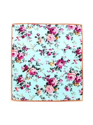 Нагрудный платок голубого цвета с розами из хлопка