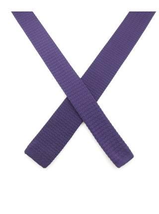 Вязаный галстук темно-фиолетового цвета однотонный