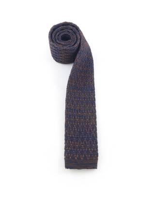 Вязаный галстук темно-синего цвета с коричневым меланж