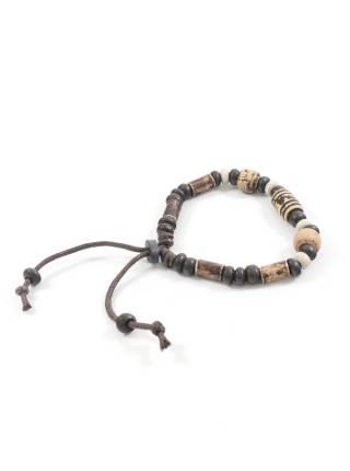 Браслет из натуральных камней коричневого и бежевого цвета