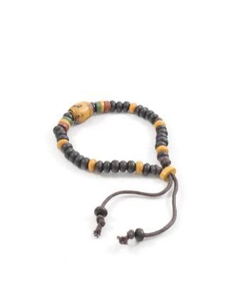 Браслет из натуральных камней коричневого и песочного цвета