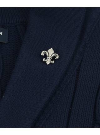 Бутоньерка для пиджака Лилия цвет золото
