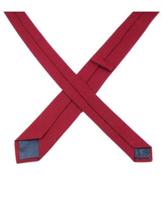 Галстук бордового цвета из хлопка