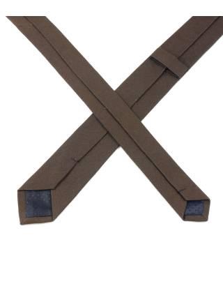 Галстук коричневого цвета из хлопка