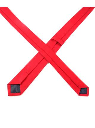 Галстук красного цвета из хлопка
