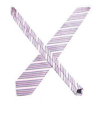 Галстук розовый в сине-фиолетовую полоску