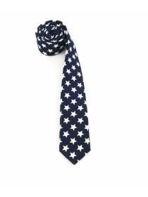Галстук синего цвета со звездами из хлопка