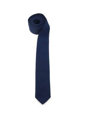 Галстук темно-синего цвета из хлопка