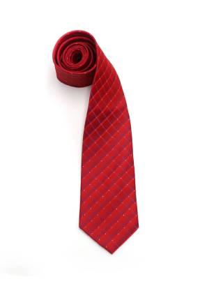 Красный галстук в ромб с синими элементами