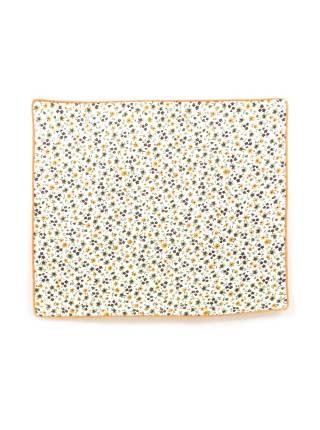 Нагрудный платок белый с разноцветными полевыми цветочками