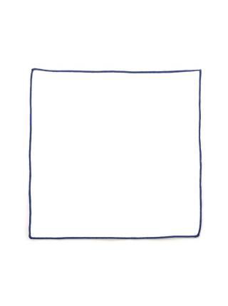 Нагрудный платок белый с синей окантовкой