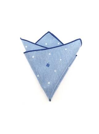 Нагрудный платок голубой с листьями клевера
