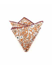 Нагрудный платок оранжевый с белыми цветочками