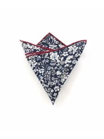 Нагрудный платок синий с белыми цветочками