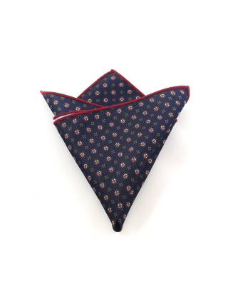 Нагрудный платок темно-синий с фантазийным рисунком