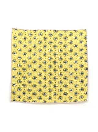 Нагрудный платок желтый с цветочками